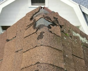 cracked roof shingles